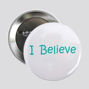"Aqua I Believe 2.25"" Button"